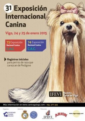 74 Exposición Nacional Canina CAC & 31 Exposición Internacional Canina CACIB VIGO 2015