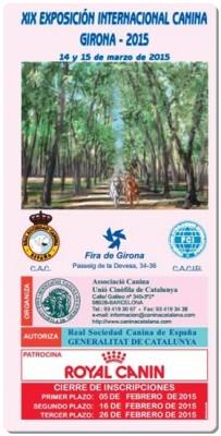 XIX EXPOSICIÓN INTERNACIONAL CANINA GIRONA 2015
