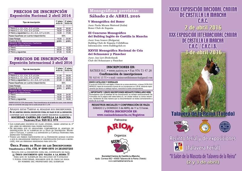Exposición Nac-Int Canina Talavera 2016